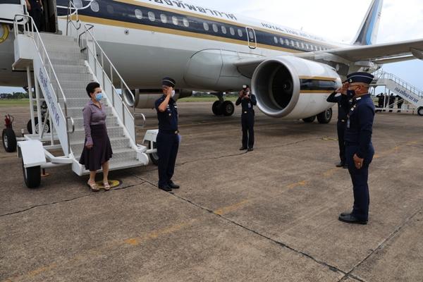 กองบิน ๒๑ ให้การต้อนรับผู้บัญชาการทหารอากาศ