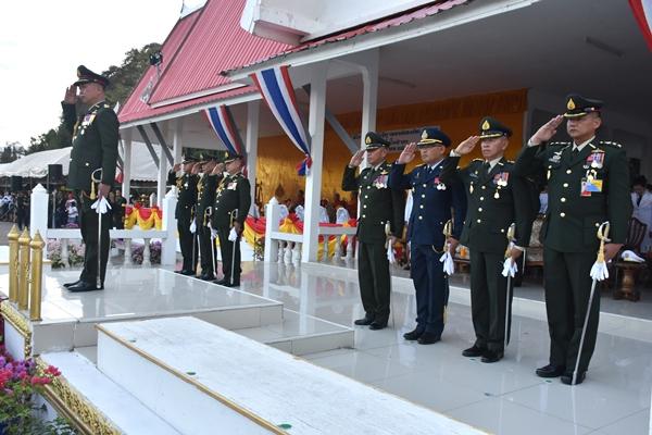 พิธีกระทำสัตย์ปฏิญาณตนต่อธงชัยเฉลิมพลเนื่องในวันกองทัพไทย ประจำปี ๒๕๖๒