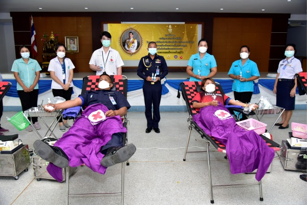 กองบิน ๒๑ ร่วมบริจาคโลหิตในโครงการกองทัพไทยร่วมใจบริจาคโลหิตแก้วิกฤต COVID – 19